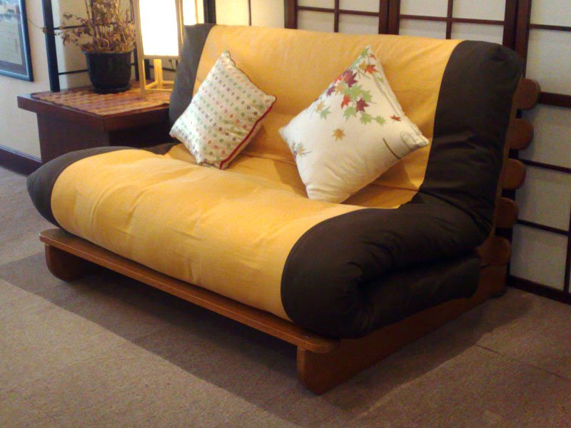 Suki Sofa Bed_Oak frame_Plain Cover